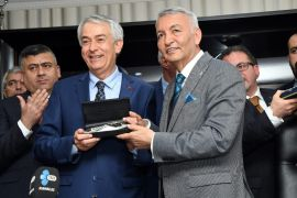 Cumhur İttifakı partileri arasında belediye başkanlığı devir teslim töreni