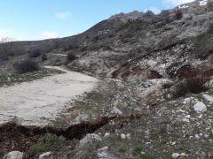 Isparta'da toprak kayması tehdidi
