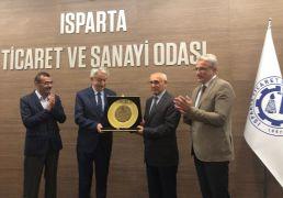 Belediye Başkanı Başdeğirmen'e ITSO'dan 'onursal başkanlık' unvanı