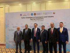 ITSO Meclis Başkanı Şahlan, Kazakistan'da Türk Konseyi imza törenine katıldı