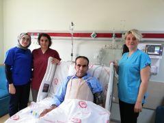 Isparta'da kalp ana damarı 2 kattan fazla genişleyen hastaya damar değiştirme operasyonu