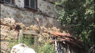 Köylüden sopalı yılan operasyonu