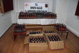 Isparta'da kaçak içki operasyonuna 1 tutuklama