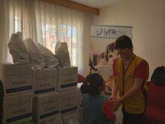 Isparta'da yetimlere kantin malzemeli harçlık paketi desteği