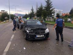 Isparta'da zincirleme kaza: 1 yaralı