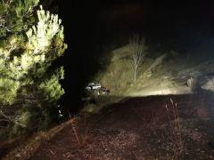 Kontrolden çıkan otomobil, uçurumdan aşağı yuvarlandı: 5 yaralı