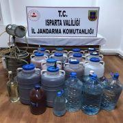 Köyde, sahte ve kaçak içki üretimine 37 bin 275 lira ceza