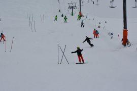 Isparta'da Kayakçılar kıyasıya yarıştı