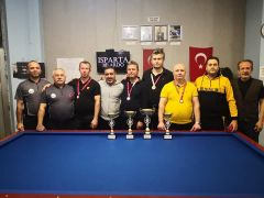 Isparta'da merhum bilardocular anısına 3 Özel Bant Akdeniz – Ege Bölgesi Turnuvası