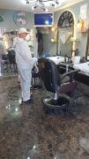 Eğirdir'de berber, kuaför salonları ve taksiler dezenfekte edildi