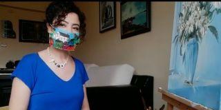 Güzel Sanatlar lisesi öğretmen ve öğrencileri evde sanatlarını boyadıkları maskelerle yapıyor