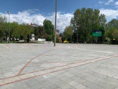 Isparta'da caddeler 1 Mayıs Emek ve Dayanışma Günü'nde boş kaldı