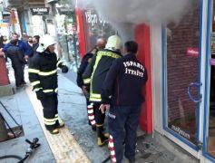 Isparta'da iş yerini yangını