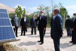 Isparta Valisi Seymenoğlu GES'te incelemelerde bulundu