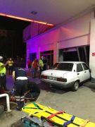 Isparta'da alkollü ve ehliyetsiz kadın sürücü benzin istasyonuna daldı