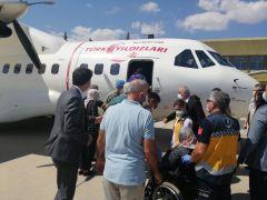 Şehit Tuğgeneral Sezgin Erdoğan'ın naaşını taşıyan uçak Isparta'dan uğurlandı