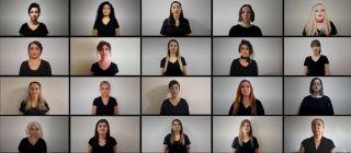 Isparta'da öğretmenlerden 24 Kasım için 'uzaktan çok sesli koro' çalışması
