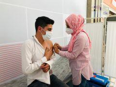 Isparta'da AVM'de aşı istasyonu kuruldu
