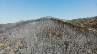 Isparta'daki Çandır köyünde söndürülen alanlar havadan görüntülendi
